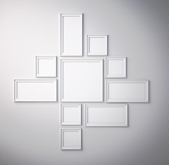 white picture frame on white wall