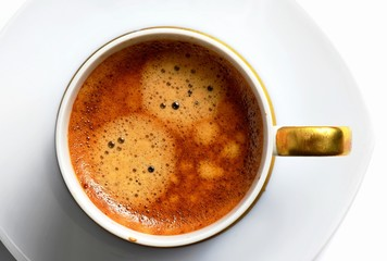 cup of delicious hot coffee