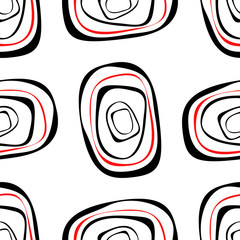 Abstract ovals on a white background.Seamless.
