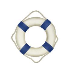 Life buoy on the white