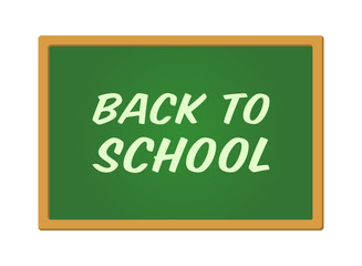 Back to school scribbled on green chalkboard vector promotion
