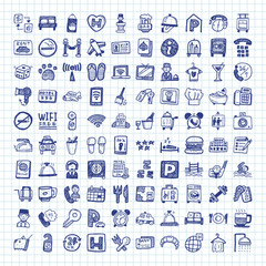 doodle hotel icons