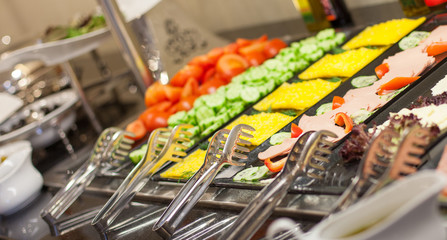 Buffet - a series of restaurant food photo images