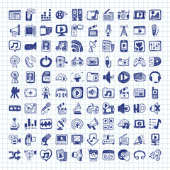 doodle media icons