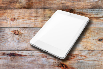 Tablet computer with blank screen.