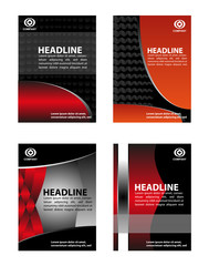 Marketing flyer background set