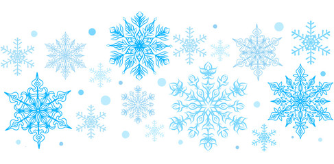 Snowflakes decorative element