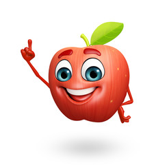 Cartoon character of red chili fruit