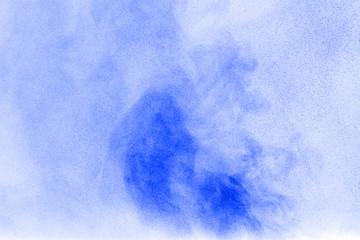 Abstract  blue powder cloud