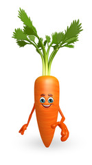 Cartoon character of  carrot