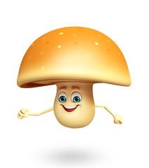 Cartoon character of mushroom