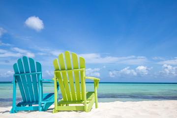 Wall Murals Caribbean Caribbean Beach Chairs