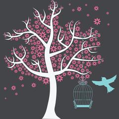 Tree with Birdcage
