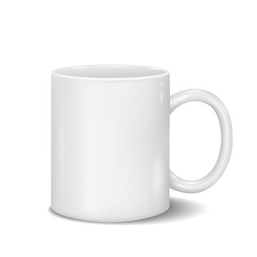 Vector Classic White Cup for Business Branding and Corporate