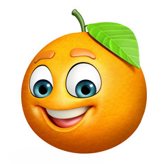 Cartoon character of orange