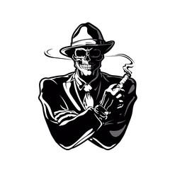 gangster skull.Vector Design EPS