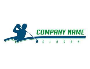 Golfer logotype