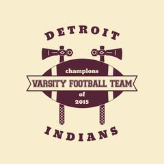 Football team vintage emblem, logo, badge, vector illustration, eps10, easy to edit
