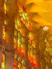 Magical lights inside Sagrada Familia