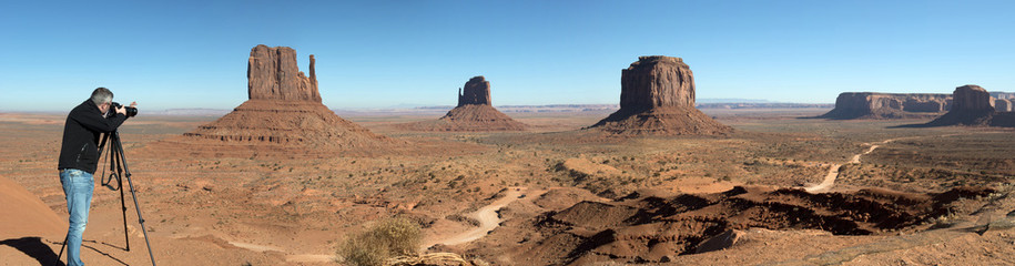Photographer in Monument valley