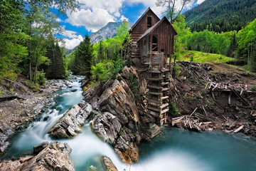 Crystal Mill in Crystal Colorado.  Located between Marble and Crested Butte Wall mural