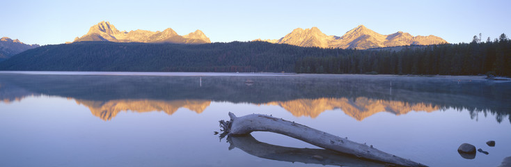 Sunrise over Redfish Lake and Sawtooth Mountains, Idaho