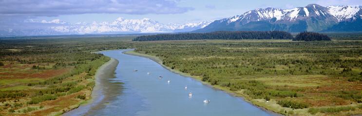 Salmon fishing boats at Wrangell-St. Elias National Park, Alaska