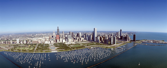 Chicago Harbor, City Skyline, Illinois