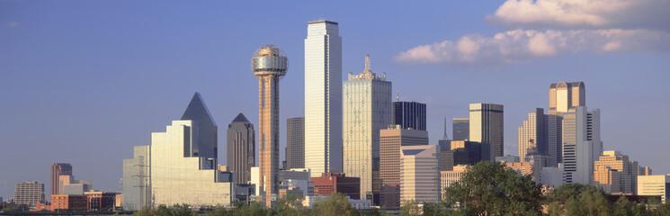 Aluminium Prints Texas Reunion Tower, Dallas, Sunset, Texas