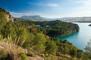 Gobantes, Malaga lake district in Andalusia Spain