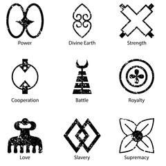African Adinkra Symbol Icon Set