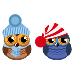 Two funny owls