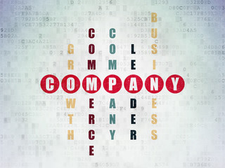 Business concept: word Company in solving Crossword Puzzle