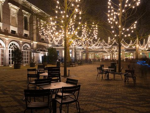 illuminated terrace