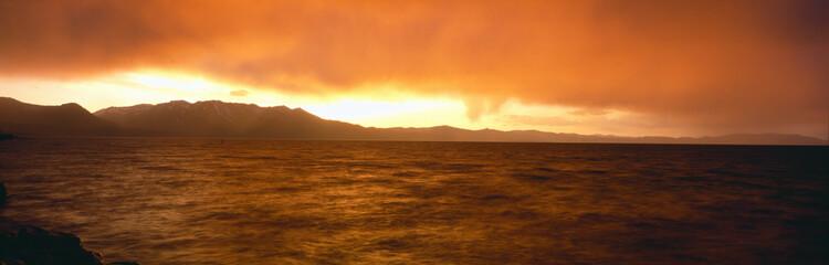 Sunset on Lake Tahoe, California