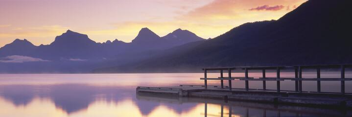 Boat dock at Lake McDonald, Glacier National Park, Montana