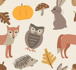 autumn animal background