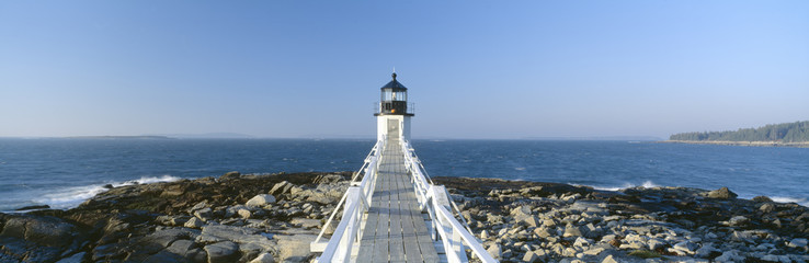 Marshall Point Lighthouse from 1832, Penobscot Bay, Port Clyde, Maine