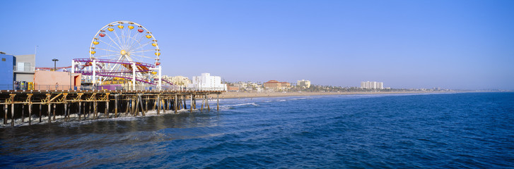 Santa Monica Pier with Ferris wheel, Santa Monica, California