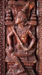 Murals wood carvings