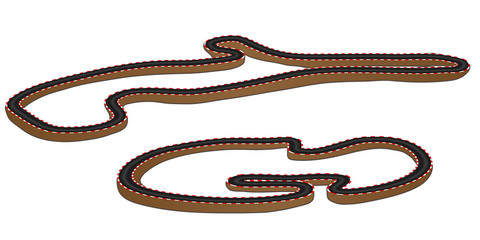 Race Tracks 3D Perspective 3