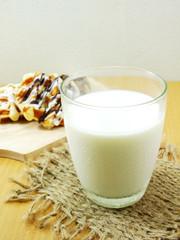 fresh milk and snack