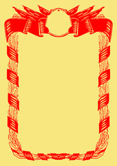 Ussr poster design template (soviet poster, socialism poster)