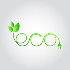 Eco / organic / green design element, vector