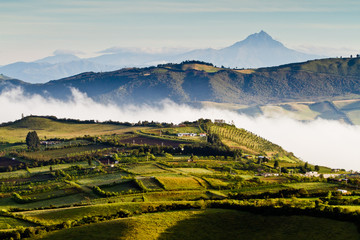 Beautiful andean landscape view from Nono, Ecuador