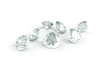 Diamond, isolated on White