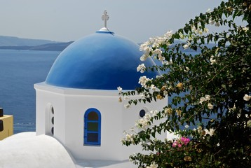 Greek orthodox church on Santorini
