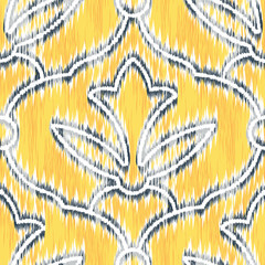 Pattern Ornament Seamless Ikat Background