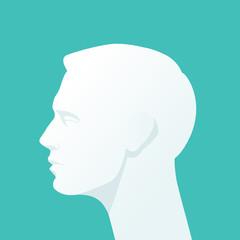 Human head. Flat illustration