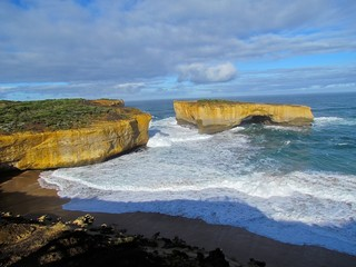Australia Great Ocean road cliffs and waves